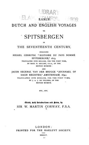 Download Early Dutch and English voyages to Spitsbergen in the seventeenth century