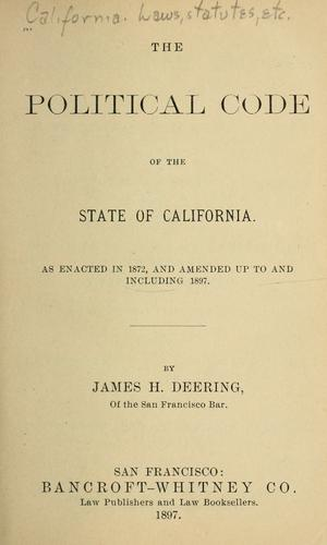 Download The Political Code of the State of California.