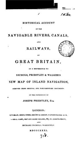 Historical account of the navigable rivers, canals, and railways, throughout Great Britain