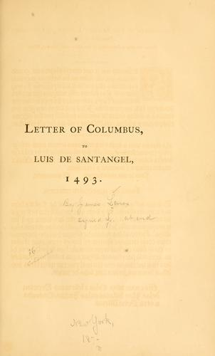 Download Letter of Columbus to Luis de Santangel, 1493.