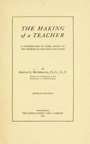 Download The making of a teacher