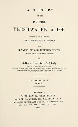 A history of the British freshwater Algæ