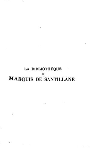 Download La bibliothèque du marquis de Santillane