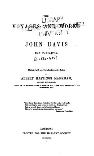 Download The voyages and works of John Davis, the navigator