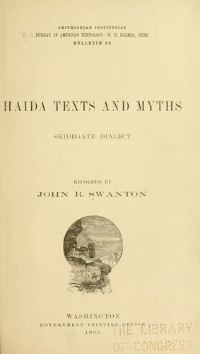 Haida texts and myths, Skidegate dialect