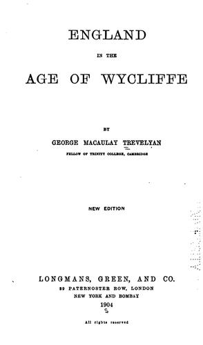 Download England in the age of Wycliffe