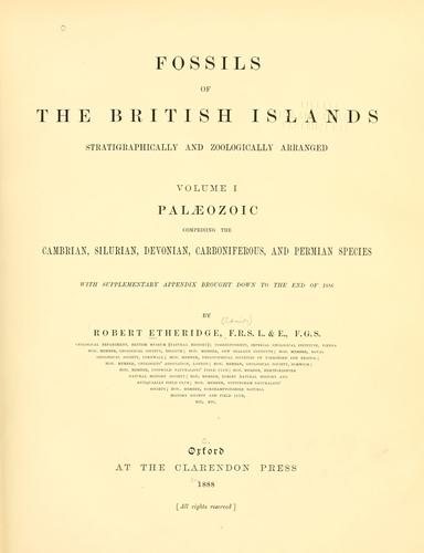 Download Fossils of the British Islands stratigraphically and zoologically arranged.