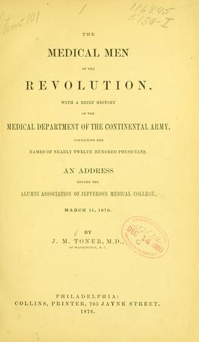 The medical men of the revolution