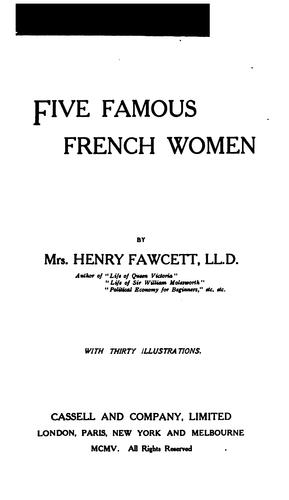 Download Five famous French women