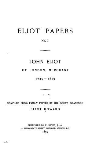 Download Eliot papers.