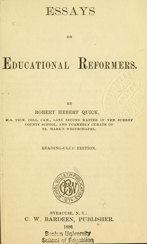 Essays on educational reformers