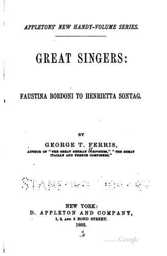 Download Great singers.