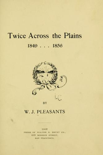 Download Twice across the plains, 1849, 1856