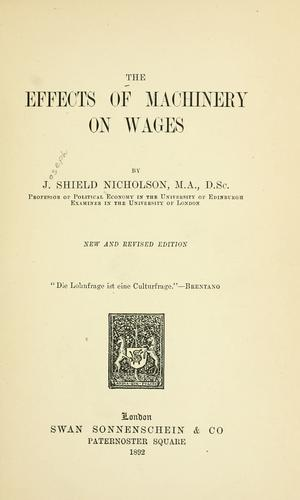 Download The effects of machinery on wages