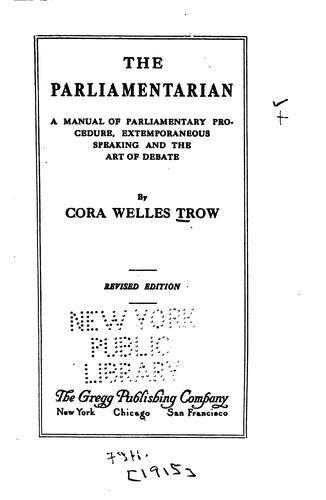 The parliamentarian