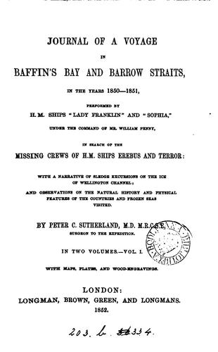 Download Journal of a voyage in Baffin's bay and Barrow straits, in the years 1850-1851 …