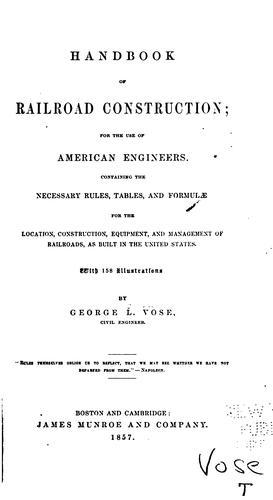 Download Handbook of railroad construction
