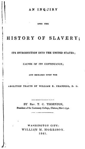 Download An inquiry into the history of slavery