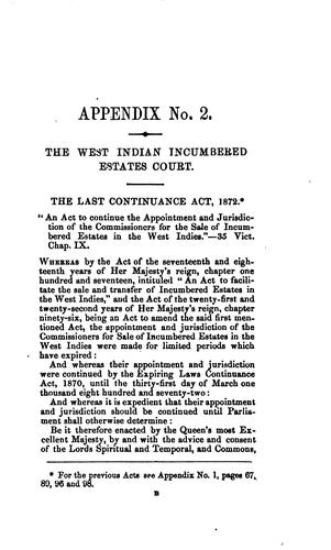 A treatise on the West Indian incumbered estates acts