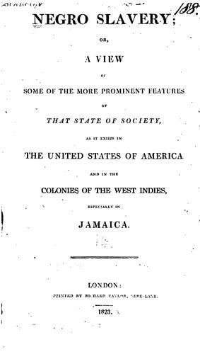 Download Negro slavery