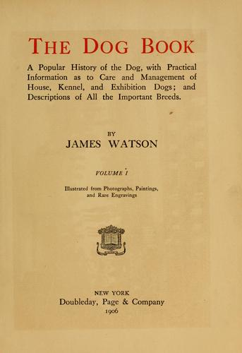 Download The dog book.