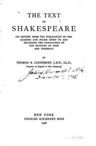 Download The text of Shakespeare