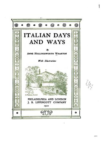 Download Italian days and ways