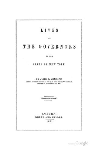 Download Lives of the governors of the state of New York.