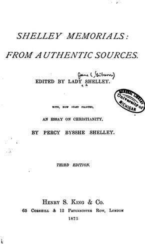 Download Shelley memorials