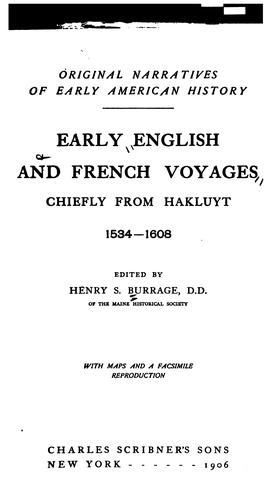 Early English and French voyages