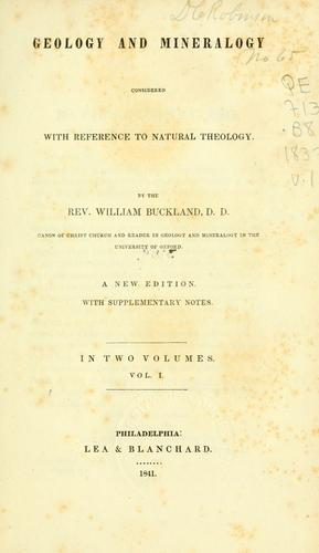 Download Geology and mineralogy considered with reference to natural theology.