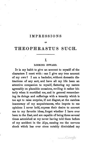 Download Impressions of Theophrastus Such