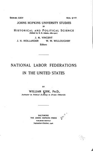 Download National labor federations in the United States