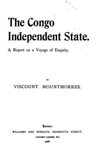 The Congo independent state