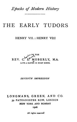 Download The early Tudors.