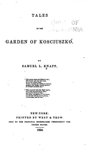 Tales of the garden of Kosciusko.