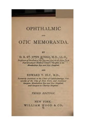 Ophthalmic and otic memoranda.