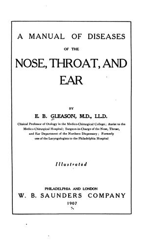 Download A manual of diseases of the nose, throat, and ear
