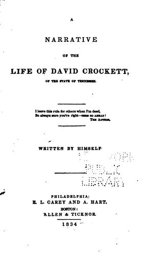 Download A narrative of the life of David Crockett …