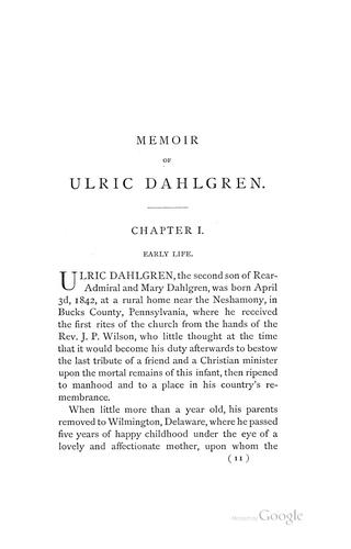 Download Memoir of Ulric Dahlgren.