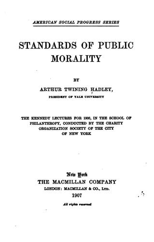 Download Standards of public morality.