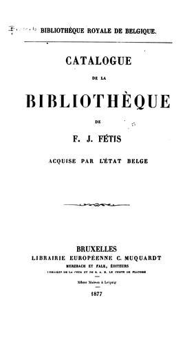 Bibliothèque royale de Belgique.
