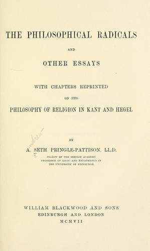 The philosophical radicals and other essays
