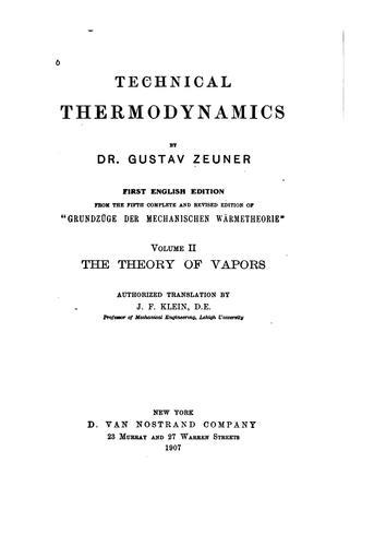 Technical thermodynamics