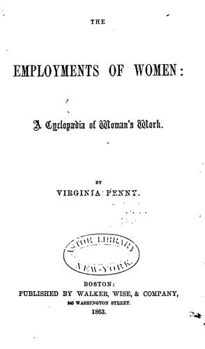 Download The employments of women