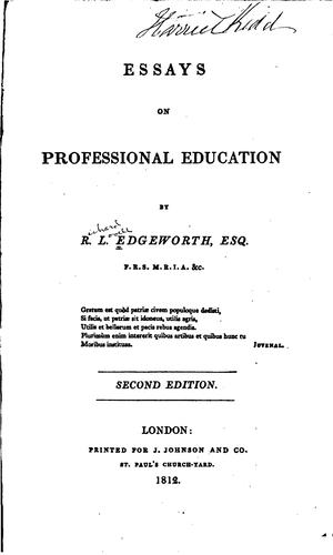 Download Essays on professional education