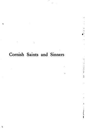 Download Cornish saints & sinners