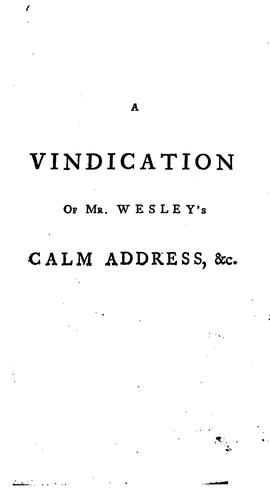 "Download A vindication of the Rev. Mr. Wesley's ""Calm address to our American colonies"""