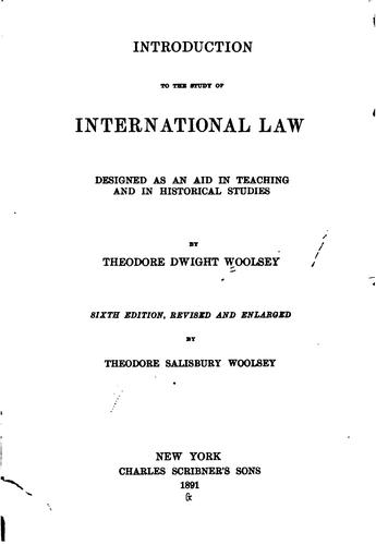 Introduction to the study of international law.