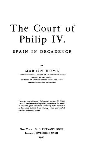 The court of Philip IV.